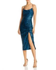 AQUA Sequined Ruched Dress - 100  Exclusive Women - Bloomingdale s at Bloomingdales