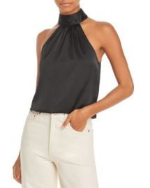 AQUA Sleeveless Halter Top - 100  Exclusive Women - Bloomingdale s at Bloomingdales