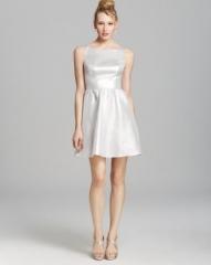 AQUA Sleeveless Open Back Dress at Bloomingdales