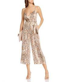 AQUA Snake Print Wide-Leg Jumpsuit - 100  Exclusive  Women - Bloomingdale s at Bloomingdales