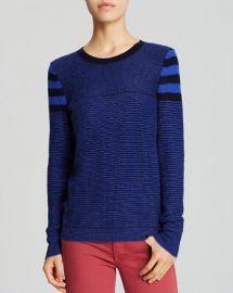 AQUA Sweater - Multi Stripe Cashmere at Bloomingdales