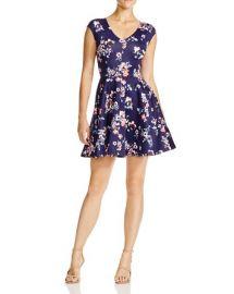 AQUA Sweet Floral Scuba Dress at Bloomingdales
