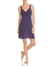 AQUA Tie-Front Ditsy Floral Dress - 100  Exclusive  Women - Bloomingdale s at Bloomingdales