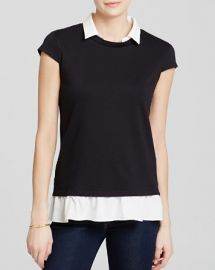 AQUA Top - Cap Sleeve Twofer at Bloomingdales