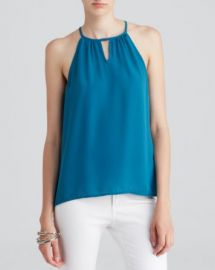 AQUA Top - Sleeveless Keyhole at Bloomingdales