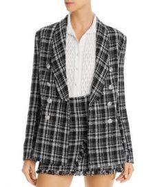 AQUA Tweed Plaid Blazer - 100  Exclusive Women - Bloomingdale s at Bloomingdales