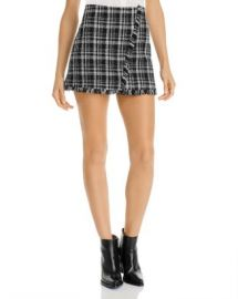 AQUA Tweed Plaid Mini Skirt - 100  Exclusive Women - Bloomingdale s at Bloomingdales