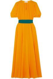ARoss Girl x Soler - Brooke silk crepe de chine midi dress at Net A Porter