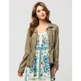 ASHLEY Roll Sleeve Womens Anorak Jacket at Tillys