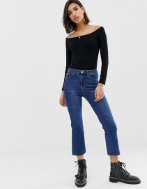ASOS DESIGN off shoulder top with long sleeve in black   ASOS at Asos