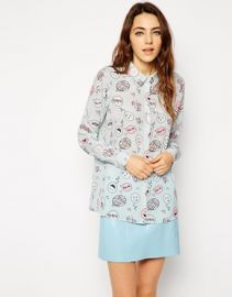 ASOS  ASOS Blouse in Speech Bubble Print at Asos