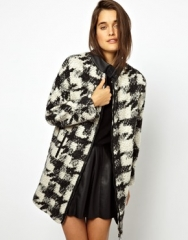 ASOS  ASOS Check Wool Coat at Asos