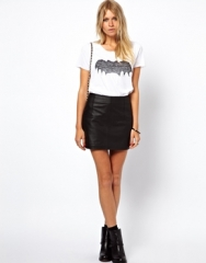 ASOS  ASOS Mini Skirt in Leather at Asos