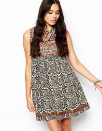 ASOS  ASOS Swing Dress With Embroidery at Asos