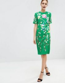 ASOS Bird   Floral Embroidered Shift Dress at asos com at Asos