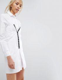 ASOS Cotton Shirt Dress with Hardware Detail at ASOS