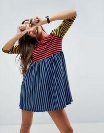 ASOS Cut About Stripe Mini Smock Dress at asos com at Asos