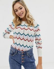 ASOS DESIGN 70s chevron sweater   ASOS at Asos