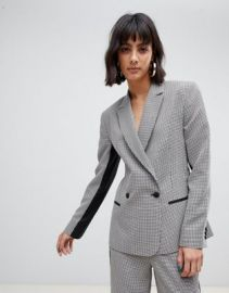ASOS DESIGN check suit blazer with contrast side stripe   ASOS at Asos