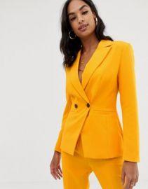 ASOS DESIGN orange pop suit blazer   ASOS at Asos
