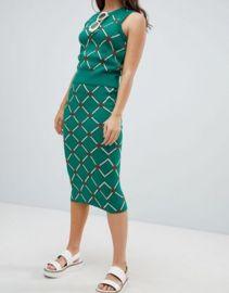 ASOS DESIGN two-piece knit skirt in argyle pattern   ASOS at Asos