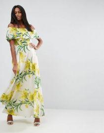 ASOS Floral Bardot Maxi Dress at asos com at Asos
