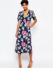 ASOS Floral Midi Tea Dress at asos com at Asos
