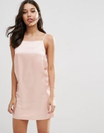 ASOS Hammered Satin Slip Dress at ASOS