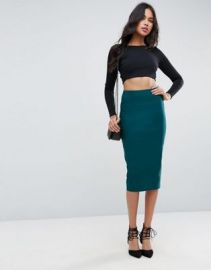 ASOS High Waist Longerline Pencil Skirt at asos com at Asos