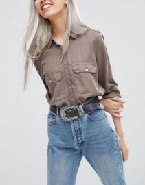 ASOS Large Buckle Leather Western Waist And Hip Belt at asos com at Asos