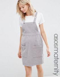 ASOS MATERNITY Pinafore Dress in Dove Gray at asos com at Asos