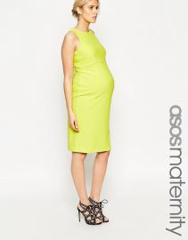 ASOS Maternity  ASOS Maternity Textured Bodycon Dress With Cut Out Back at Asos