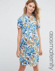 ASOS Maternity Skater Dress In Bold Floral at asos com at Asos