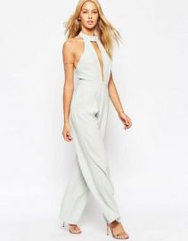 ASOS Plunge Jumpsuit with Neck Detail at asos com at Asos