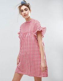 ASOS Red Gingham Smock Dress at asos com at Asos