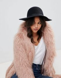 ASOS Skinny Band Felt Floppy Hat With Size Adjuster at asos com at Asos