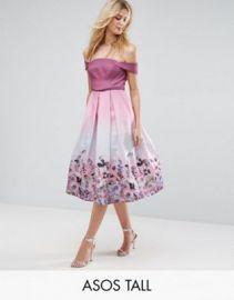 ASOS TALL SALON Floral Ombre Midi Prom Dress at asos com at Asos