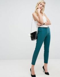 ASOS The Slim Tailored Cigarette Pants With Belt at asos com at Asos