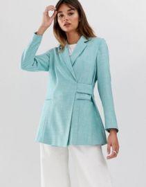 ASOS WHITE tab detail textured suit jacket   ASOS at Asos