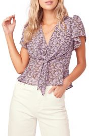 ASTR the Label Tie Front Blouse   Nordstrom at Nordstrom