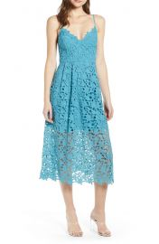 ASTR Lace Midi Dress at Nordstrom