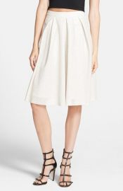 ASTR Perforated Faux Leather Midi Skirt at Nordstrom
