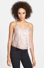 ASTR Sequin Lace Camisole at Nordstrom
