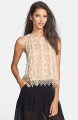 ASTR Sleeveless Blouse at Nordstrom