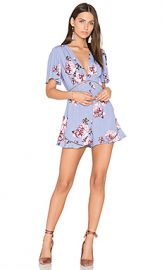ASTR the Label Cadence Romper in Periwinkle Floral from Revolve com at Revolve