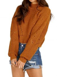 ASTR the Label Carly Sweater Mustard at Amazon