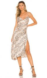 ASTR the Label Cowl Strappy Dress in Taupe Python from Revolve com at Revolve