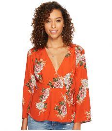 ASTR the Label Wrap Front Long Sleeve Top at Zappos com at Zappos