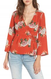ASTR the Label Wrap Top at Nordstrom