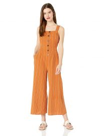 ASTR the label Women s Baseline Sleeveless Open Back Cropped Culotte Jumpsuit at Amazon
